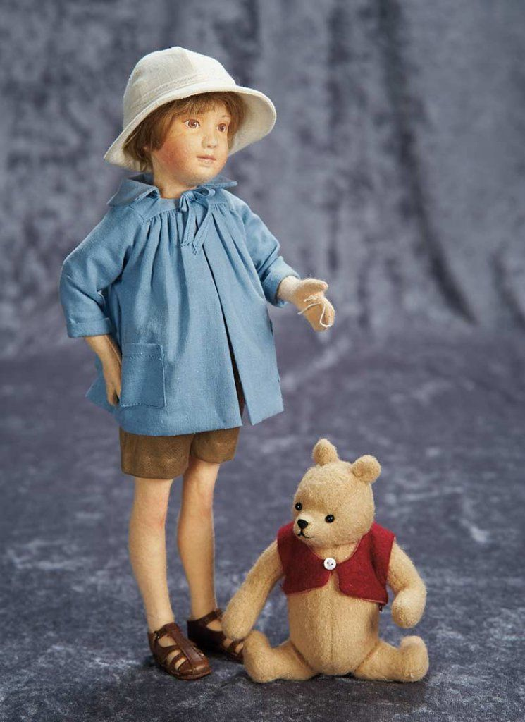 "12"" (30 cm.) American Felt Christopher Robin and Winnie the Pooh by R. John Wright 400/500"