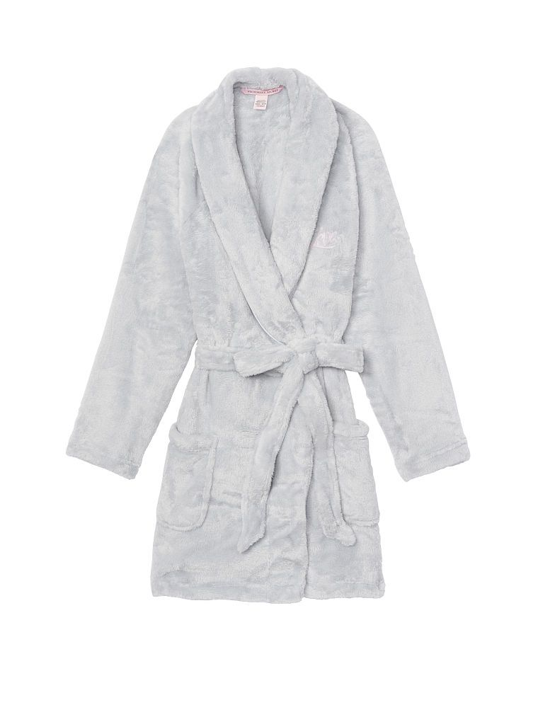 NEW WITH TAGS Unisex Men Women/'s Bathrobe Gray Plush Fleece Robe PICK SIZE