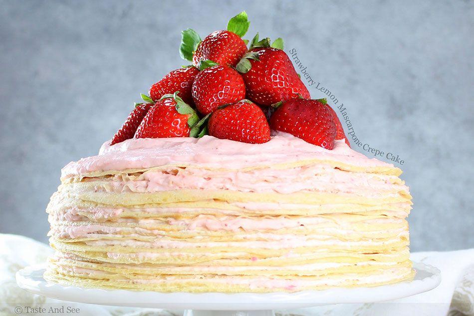 Lemon Mascarpone Crepe Cake | sweeties | Pinterest | Crepes, Crepe ...