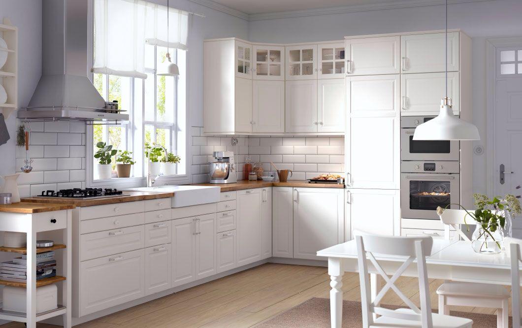 Cuisine Ikea Ikea Kitchen Design Ikea Bodbyn Kitchen White Kitchen Design