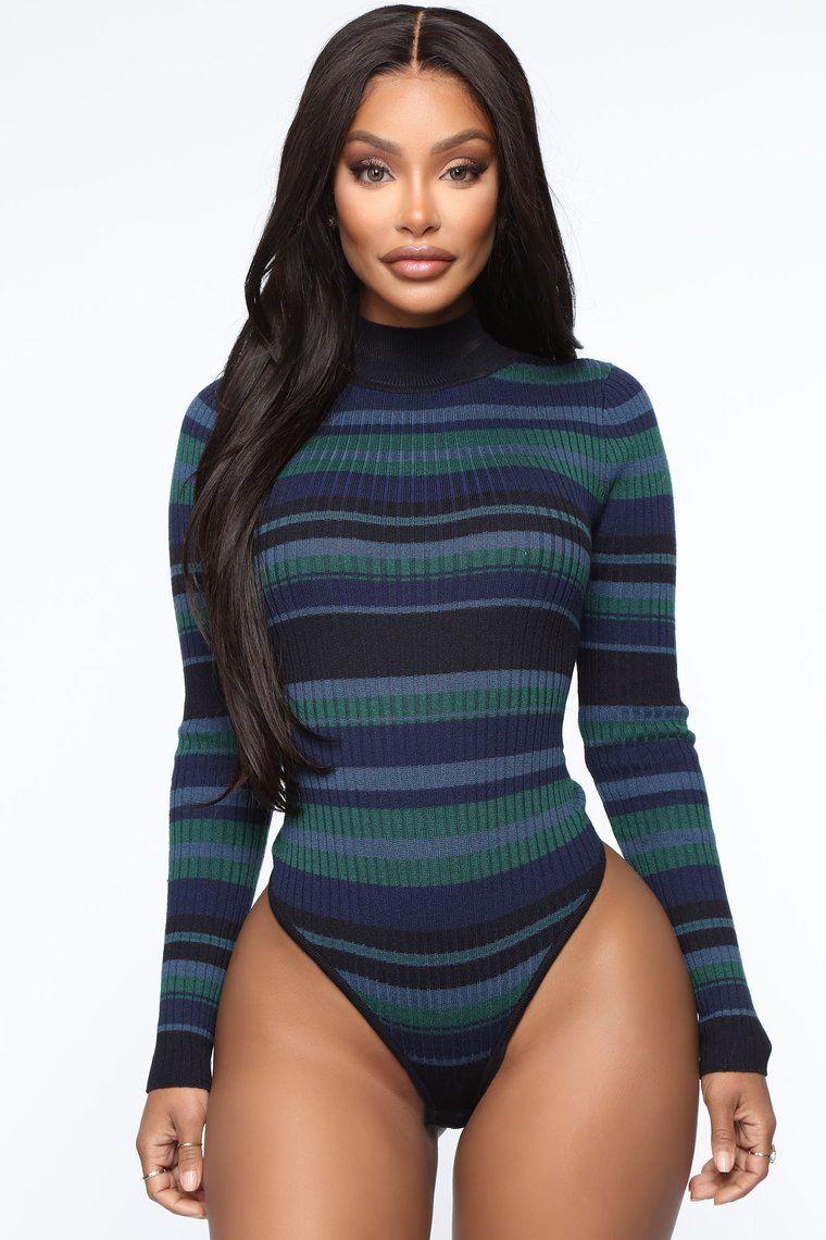 Warm My Body Sweater Bodysuit Hunter In 2020 Bodysuit Fashion Bodysuit Fashion