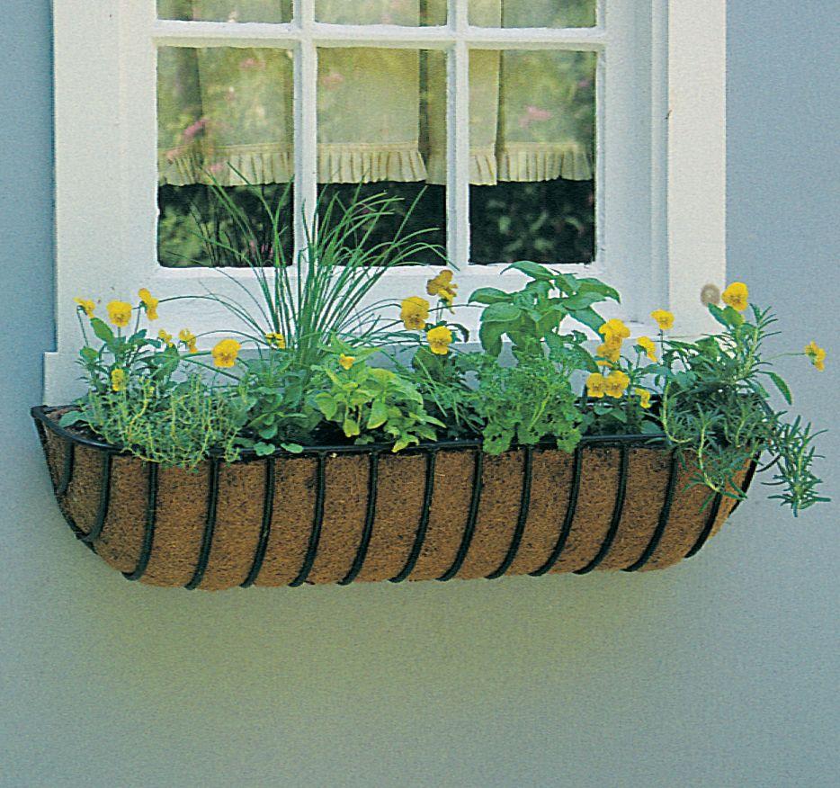 44 Euro Classic Hayrack Planter Natural Coco Liner Set Window Planters Window Box Window Planter Boxes