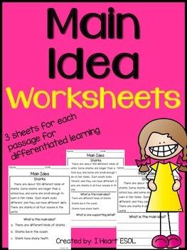 Main Idea Worksheets Main Idea Worksheet Kindergarten Worksheets Speech Language Activities