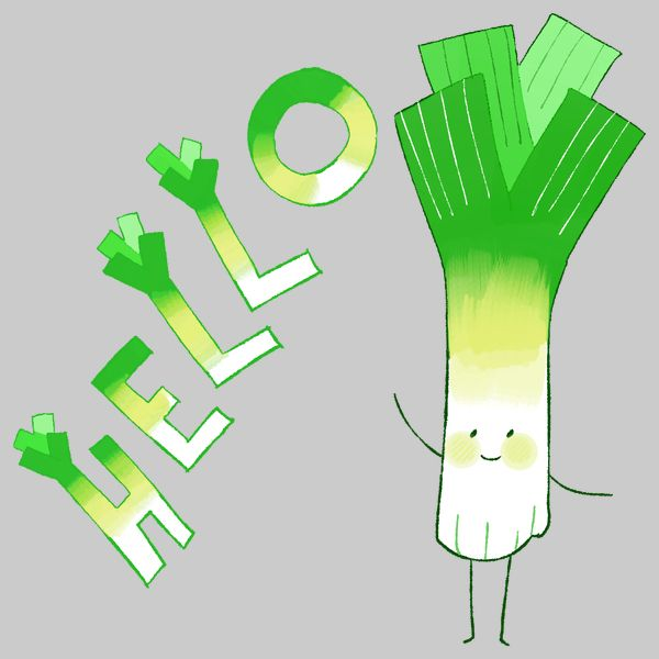 Hello, Leek - There's Some Mighty Friendly Food In Your Fridge - Neatorama