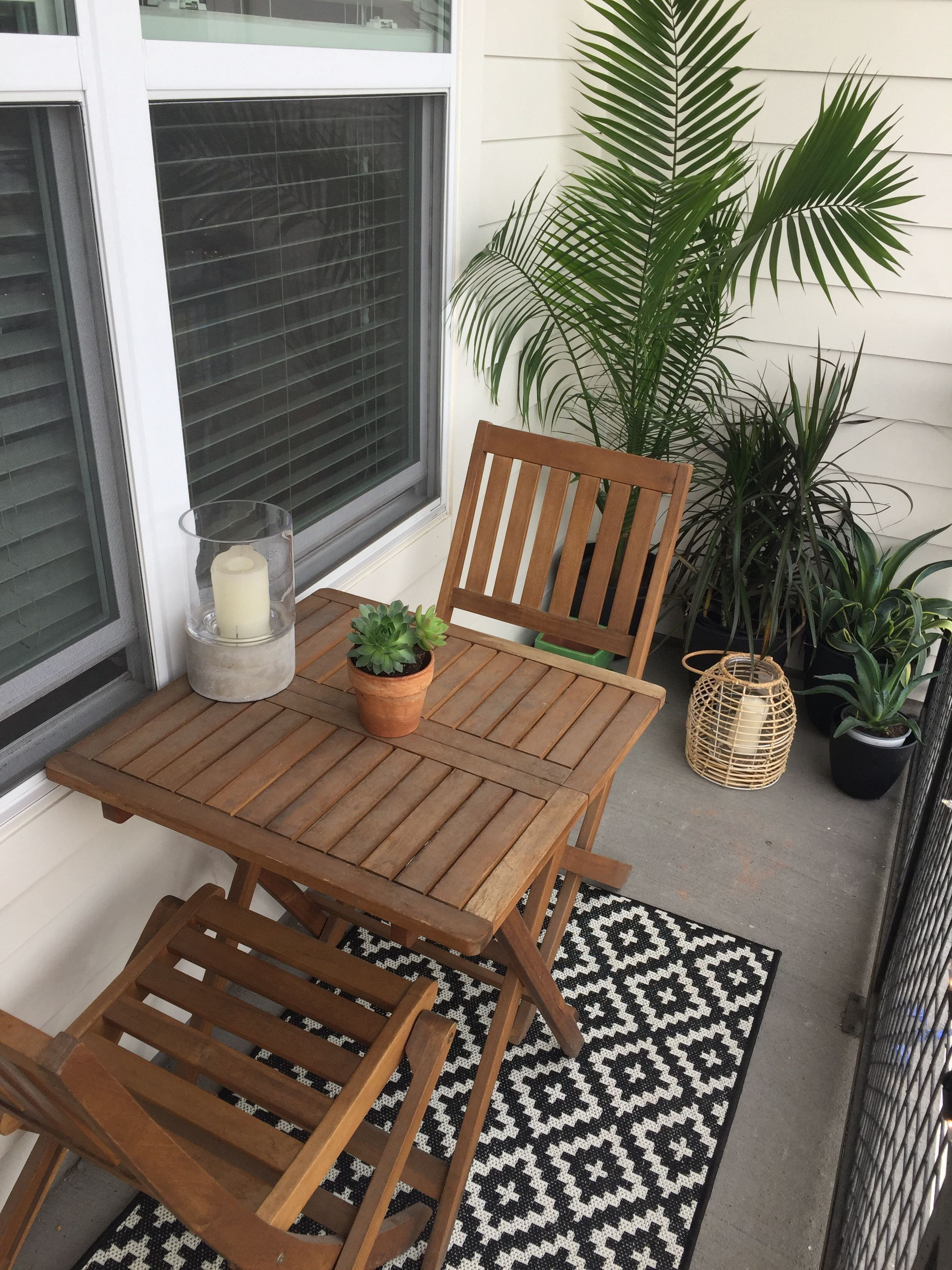 Small balcony design and decor ideas small garden target and world market furniture succulents and candles