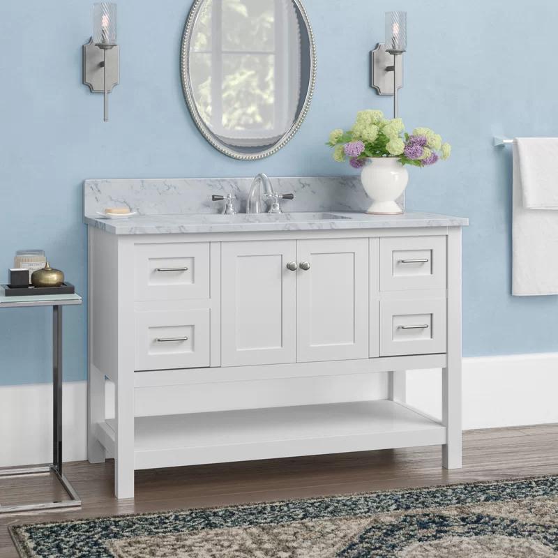 Warburton 48 Single Bathroom Vanity Set In 2020 Single Bathroom Vanity Vanity Set Single Sink Vanity