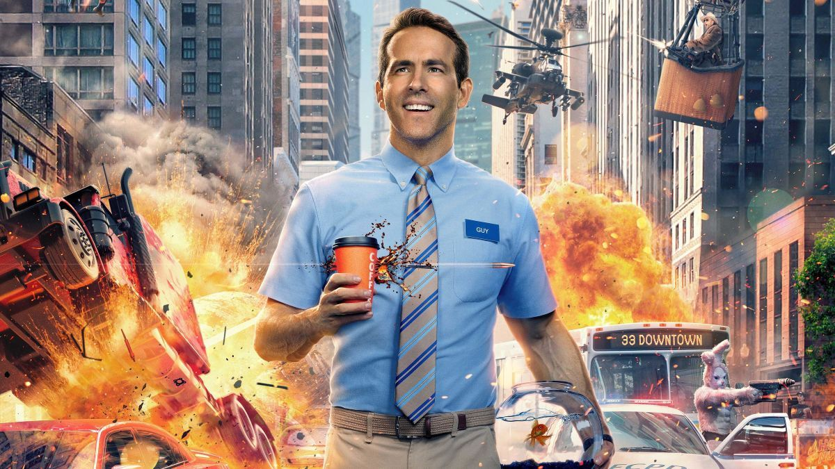 In Free Guy S First Trailer Ryan Reynolds Is The Only Dude For The Job Ryan Reynolds New Trailers Movies
