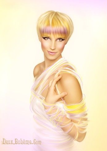 Hair Stylist Erica Hardy Conceptual Avant Garde blonde lavender hair Photography: www.deuxboheme.com