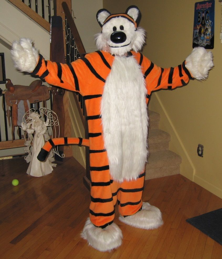 My Handmade Hobbes Costume From The Calvin And Hobbes Comic Strip