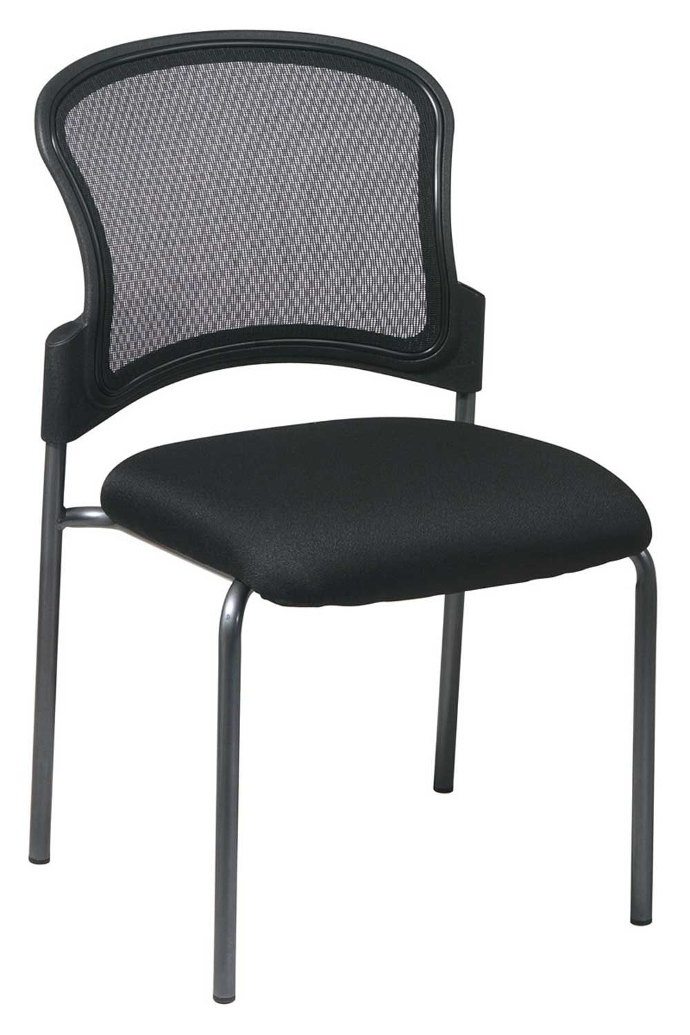 Black Stacking Office Reception Chair Office Star Guest Chair