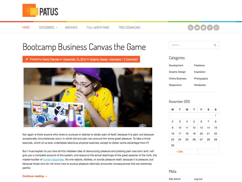 Free Patus WordPress theme Best free wordpress themes