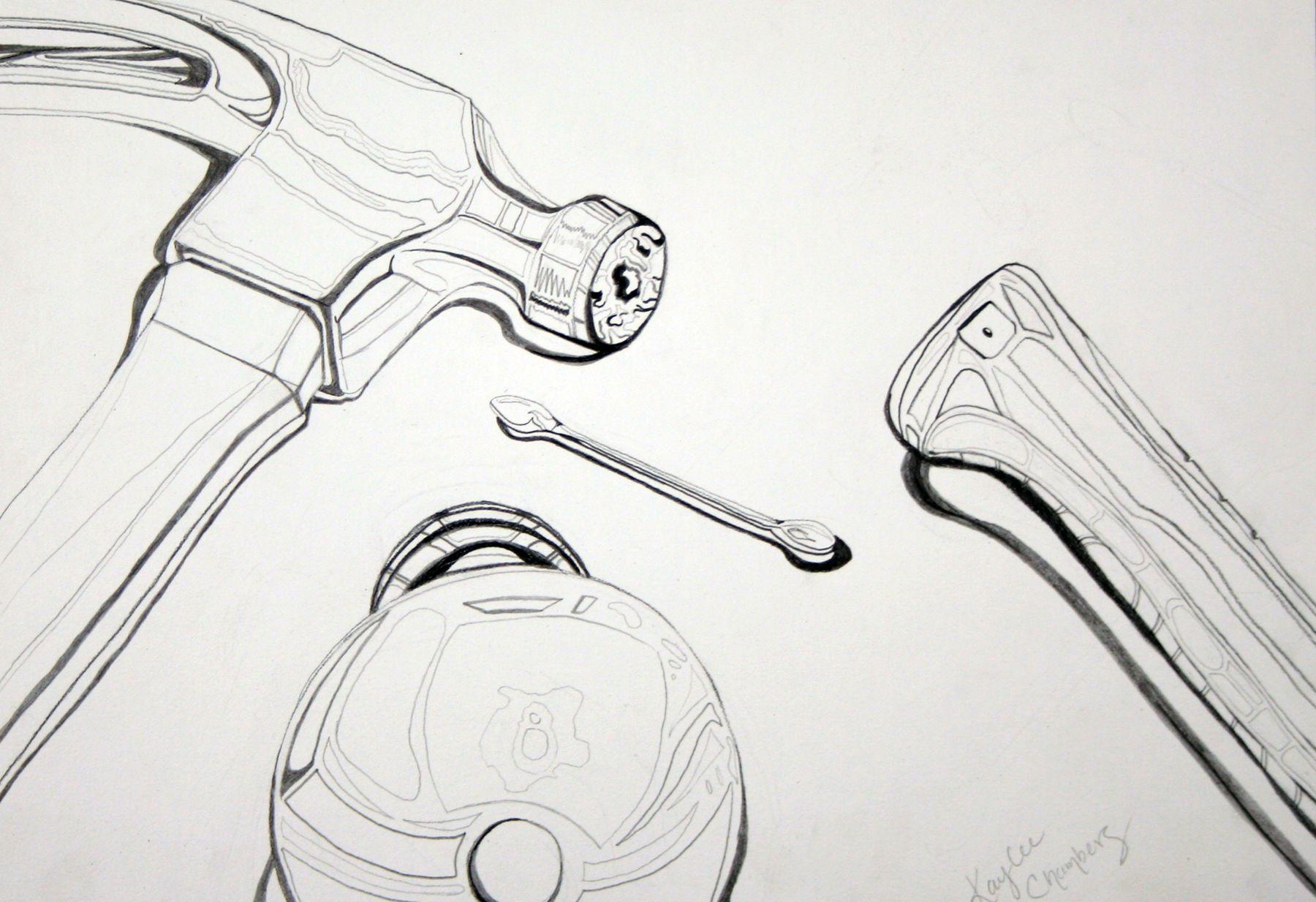 1 drawing i contour line art pinterest contours student
