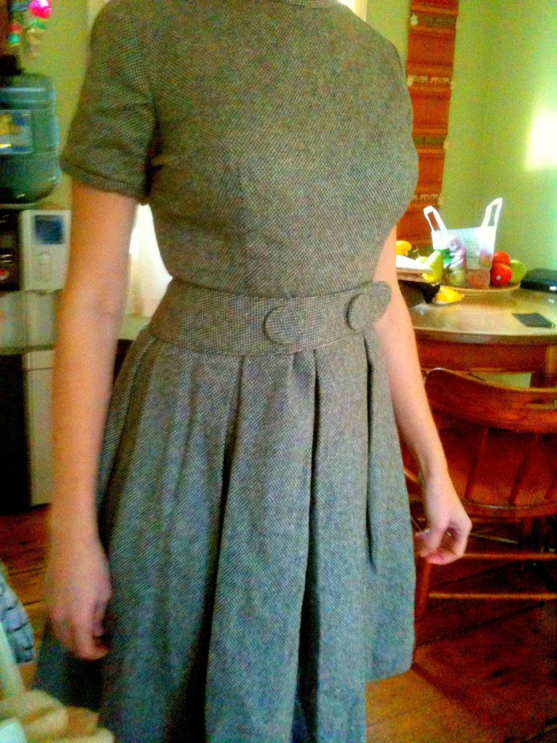 Beautiful Wool 1960s Secretary Assistant Dress- Great Conndition. $65.99, via Etsy.