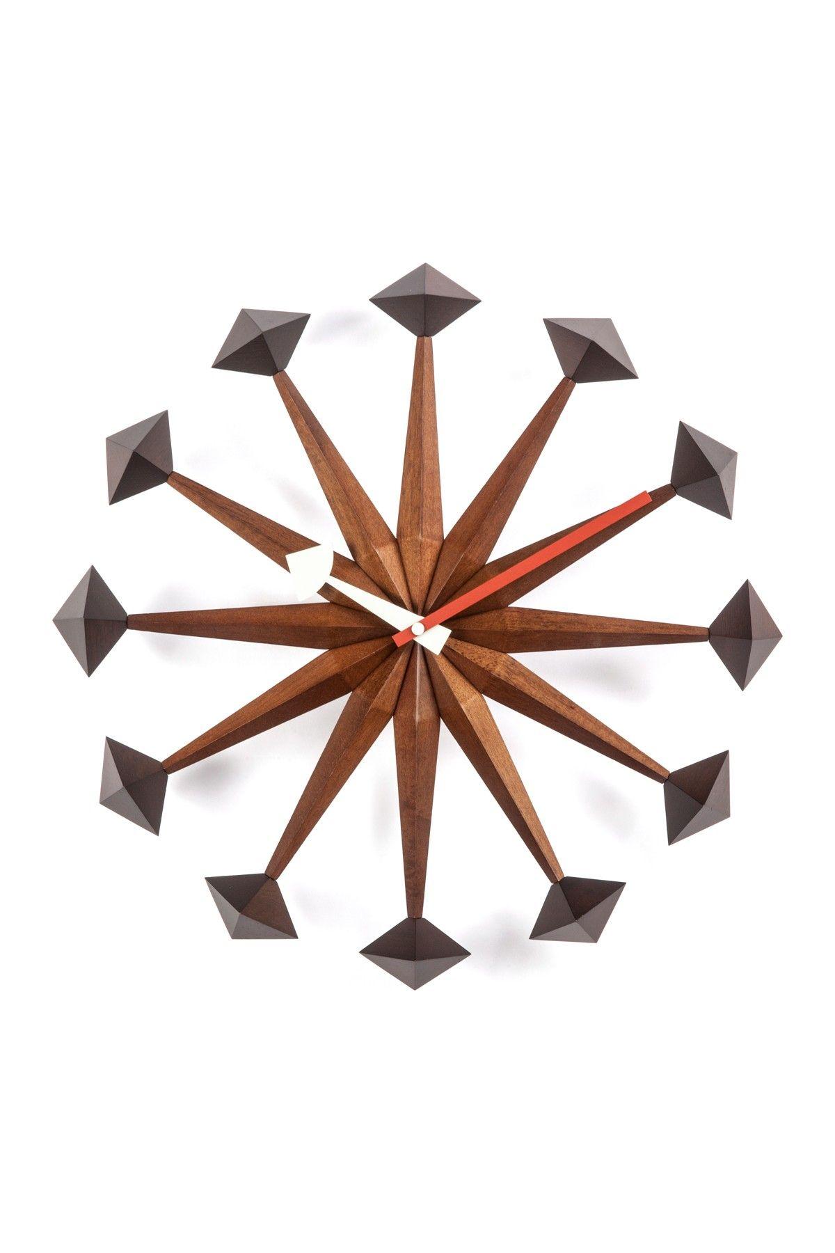 The Sicily MidCentury Brown Clock on HauteLook  sunburst u other