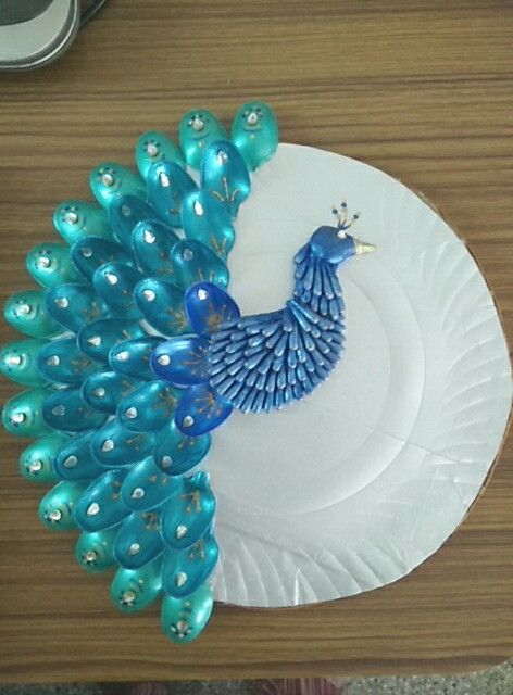 Aarathi plate peacock aarathi plate pinterest for Aarathi plates decoration