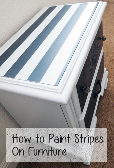 How To Paint Stripes On Furniture Painted Ideas Striped