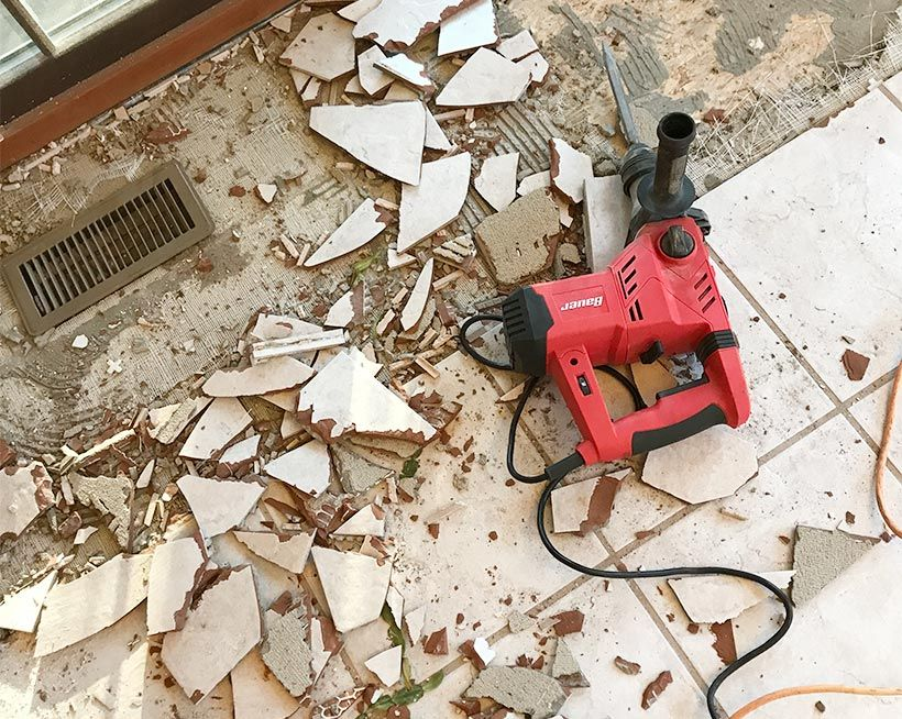 How To Remove Tile Floors Tile Removal Cleaning Hacks Cleaning Painted Walls