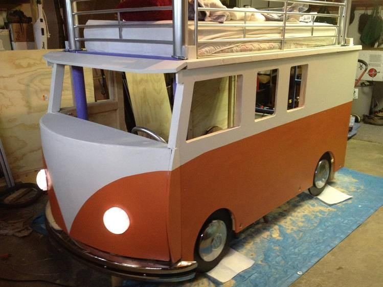 Kinderbett junge bus  Building a VW Bus Bunk Bed for Kids | Ask Fountain | Kiddos | Kiddos ...