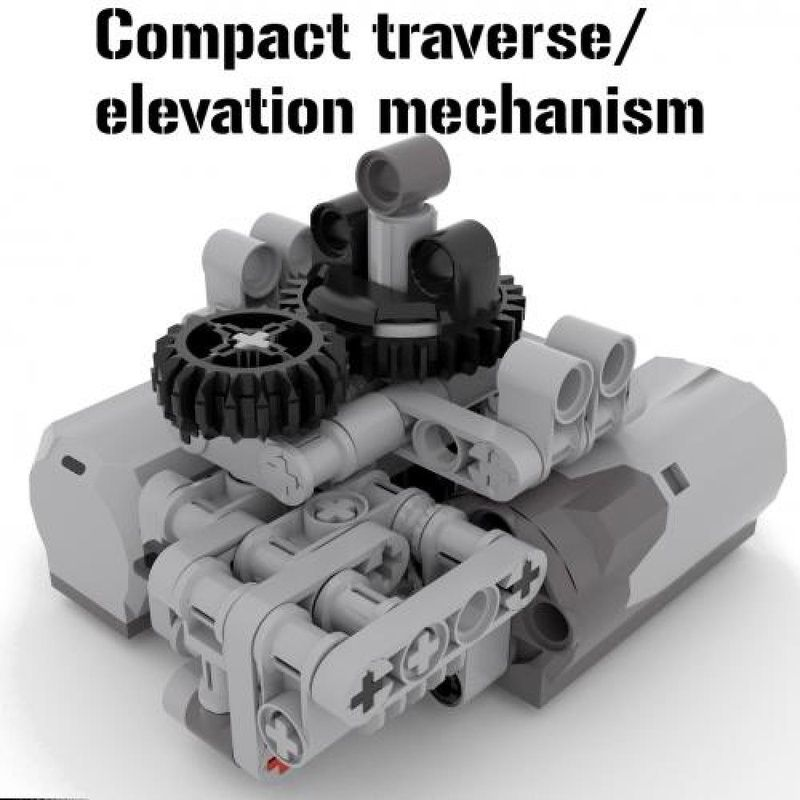 LEGO MOC MOC-5340 Compact traverse/ levation mechanism - building ...