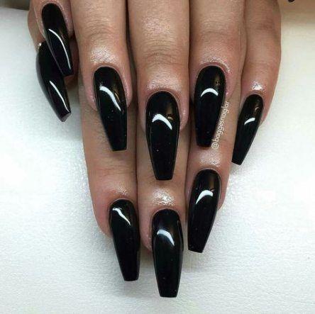 nails acrylic coffin black 43 ideas  black acrylic nails