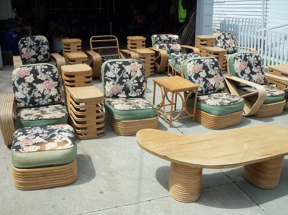 Vintage Rattan Furniture 22 Piece Set From The 1950 S Vintage Rattan Furniture Vintage House Rattan Furniture