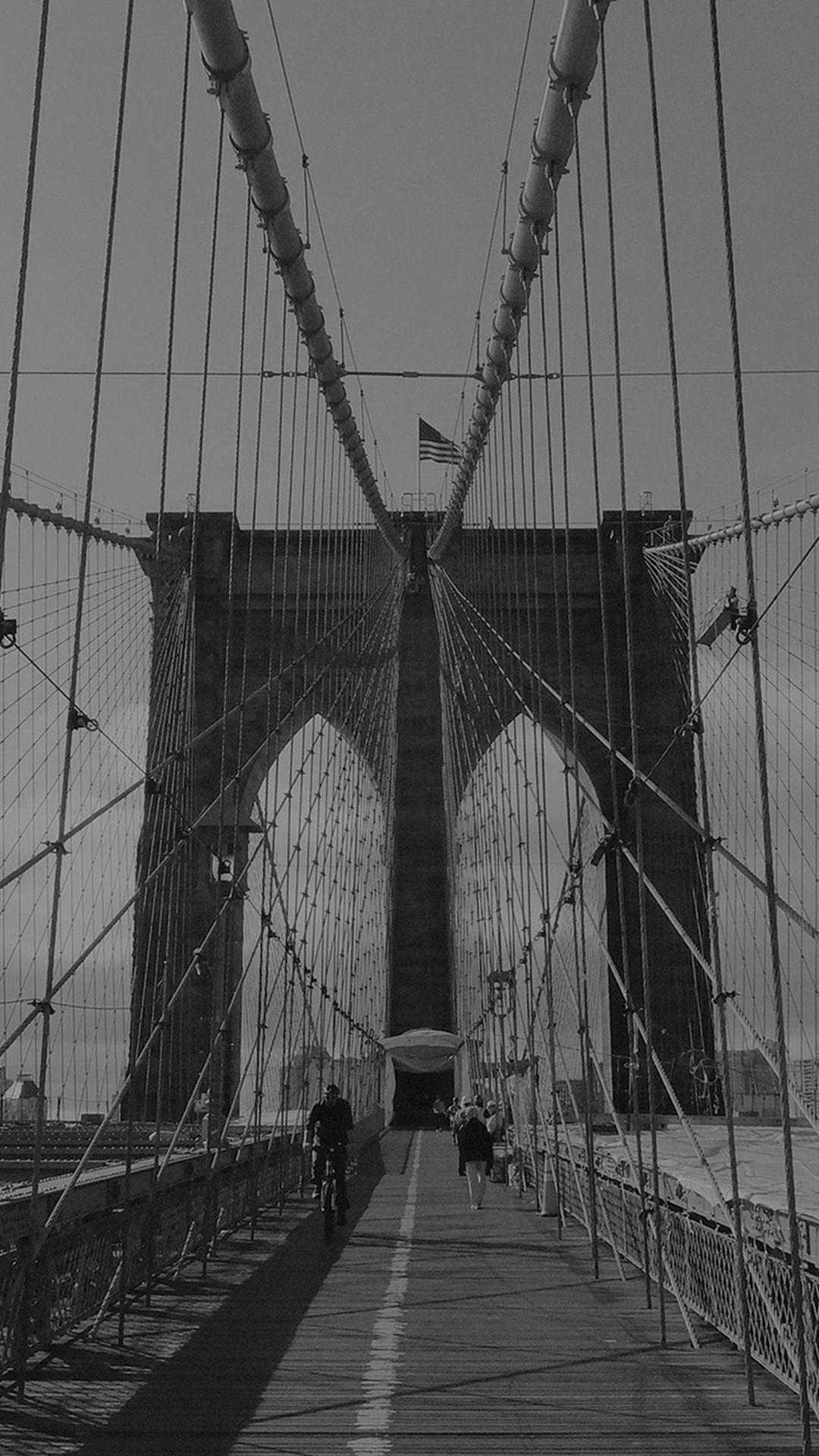Bridge Dark Over River City Iphone 8 Wallpapers City Iphone