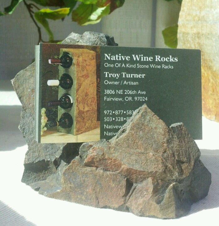 Nativewinerocks Stone Business Card Holder