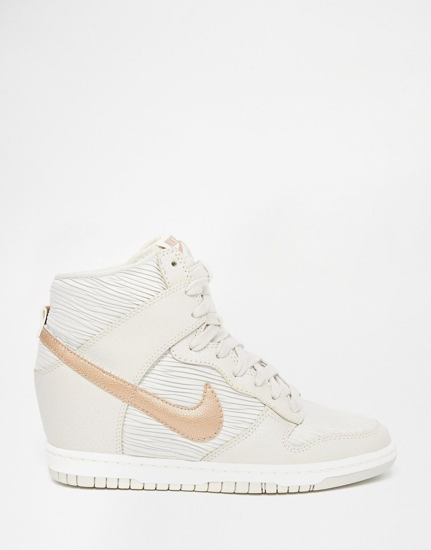 Image 2 of Nike Dunk Sky Hi Off White Wedge Trainers