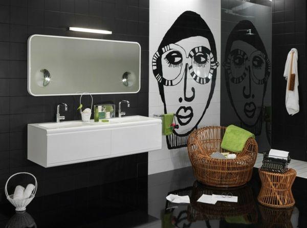 Modernes Badezimmer Mosaik Fliesen Gesicht Wand Waschbecken