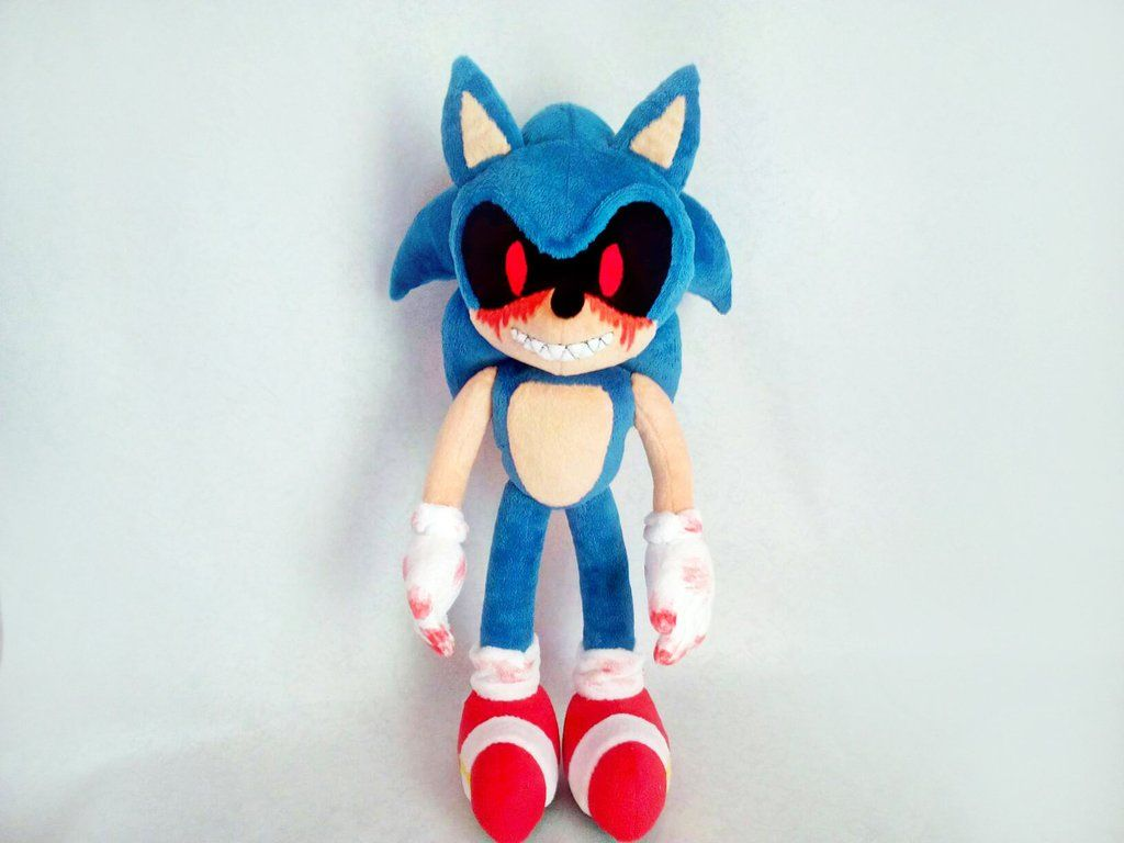 Custom Plush Inspired By The Sonic E X E Plush Toy 45 Cm 17 Inch Minky Made To Order In 2020 Sonic Plush Toys Sonic Plush