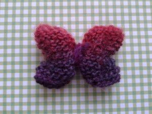 How to make a knitted butterfly
