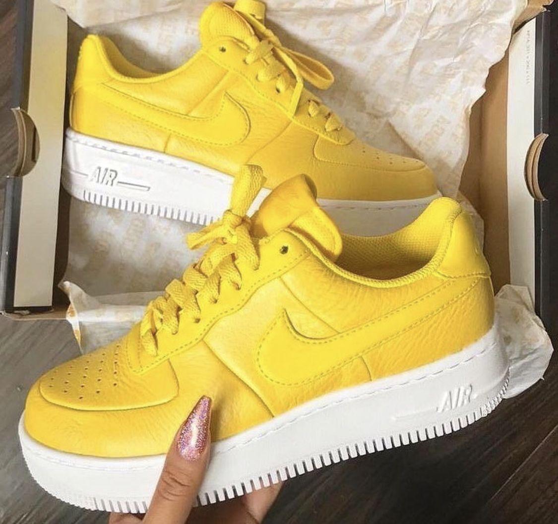 nike femme chaussures jaune