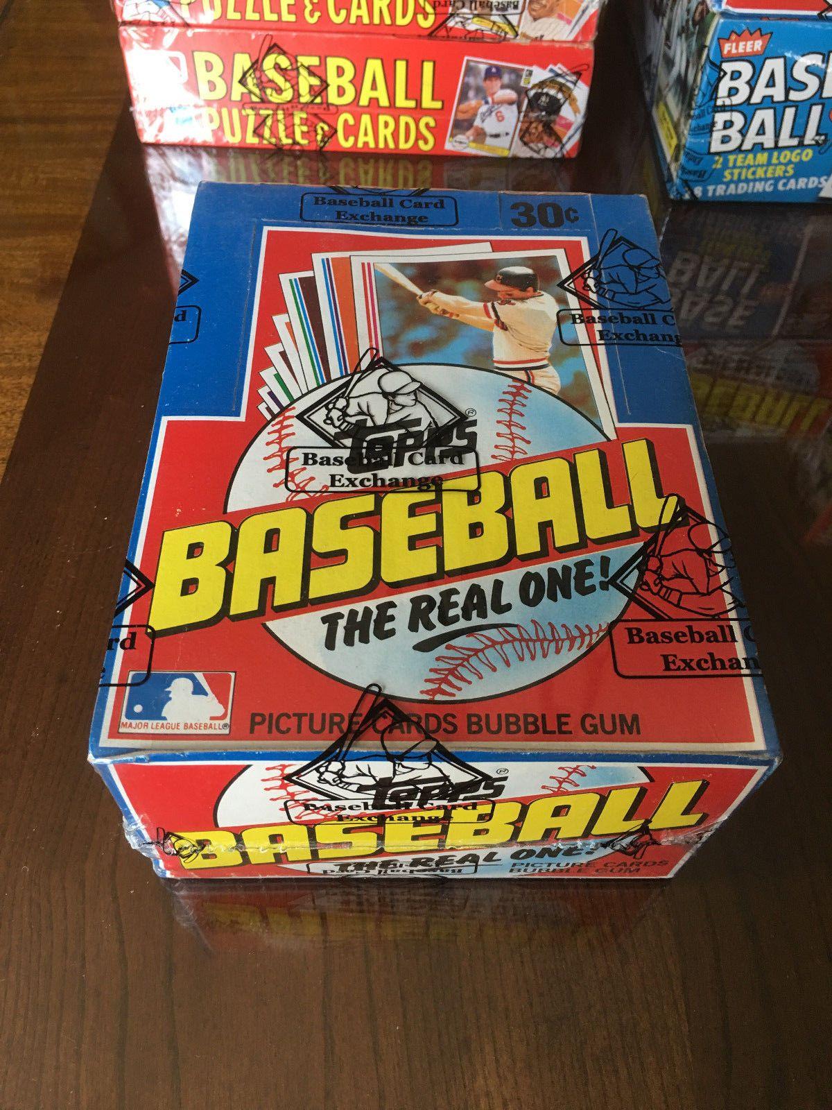 1982 topps baseball unopened wax box bbce wrapped ripken