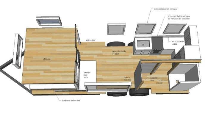 This 24 Foot Tiny House Is Just Gorgeous U2026 And The Plans Are Available For  Free