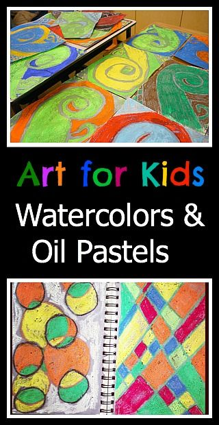 Art Projects For Kids Oil Pastels Watercolors Art For Kids
