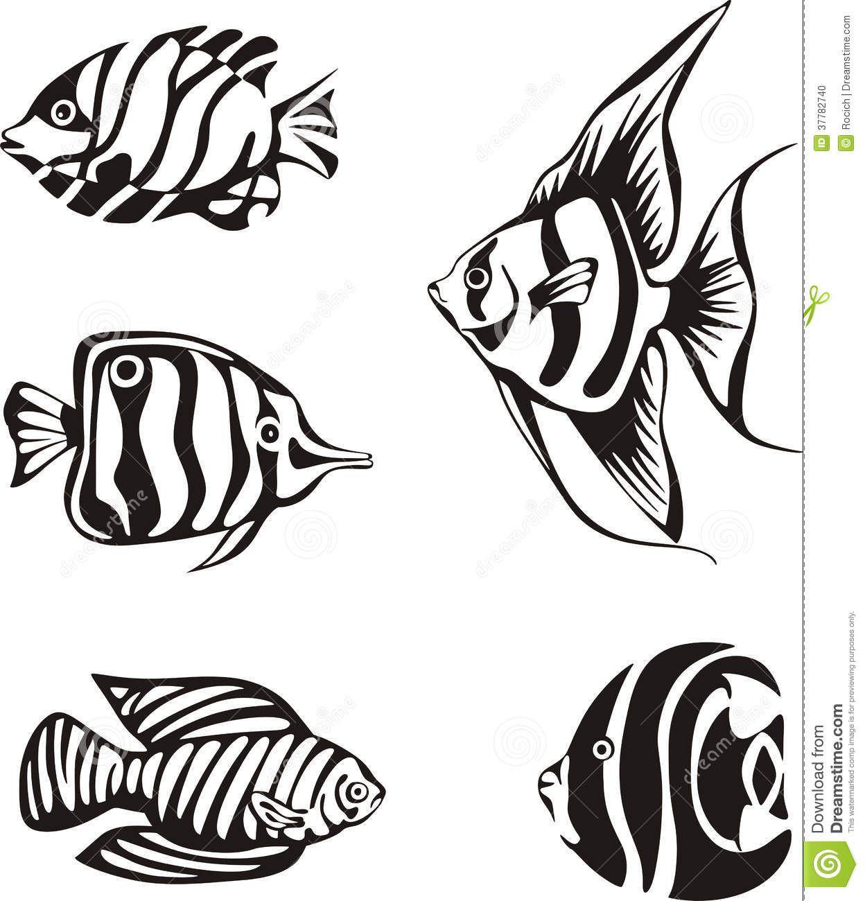Tropical Fish Stencil