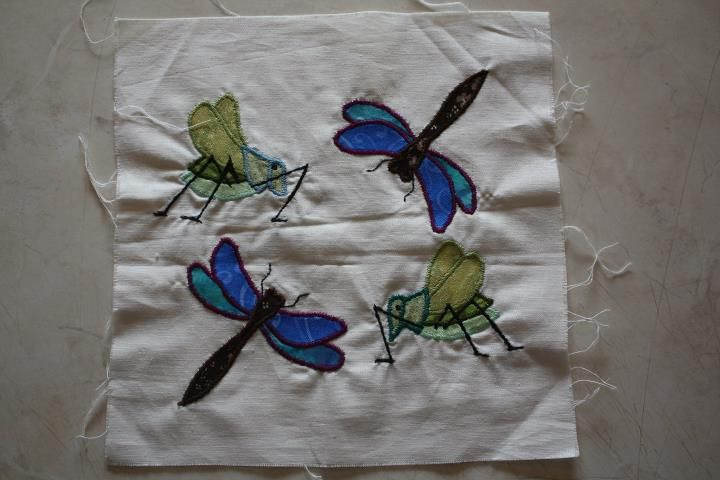 applique almost ready to be quilted for Yvonne - project completed in Kerry two years ago