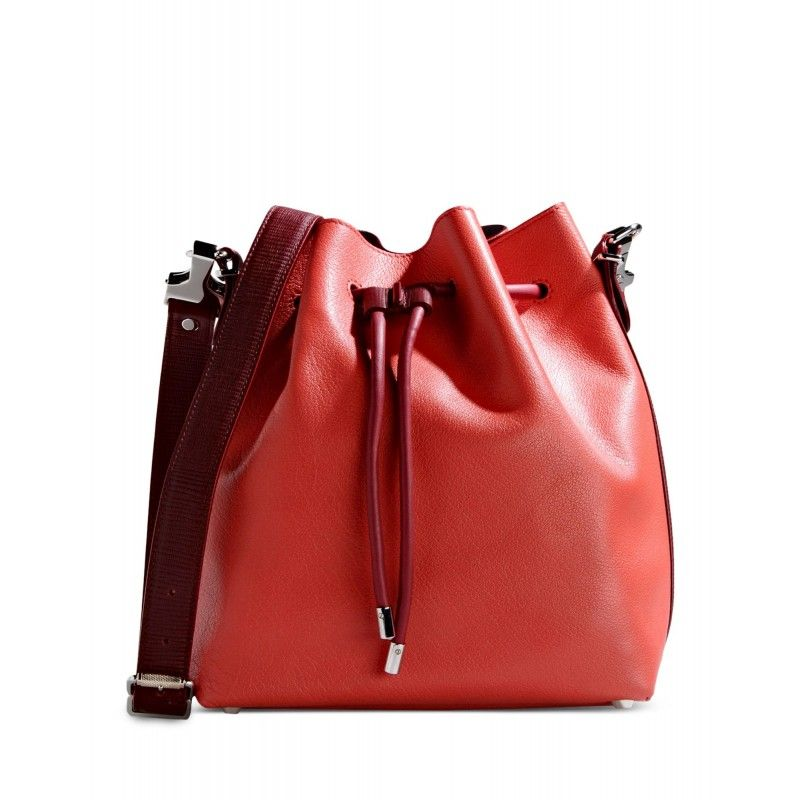 Proenza Schouler Red Leather Bucket Bag