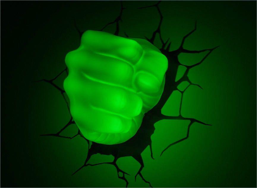 Marvel avengers incredible hulk fist hand 3d art deco wall led night marvel avengers incredible hulk fist hand 3d art aloadofball Gallery