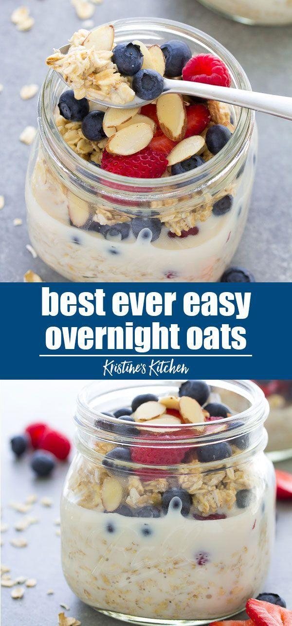 Easy Overnight Oats Recipe - Kristine's Kitchen
