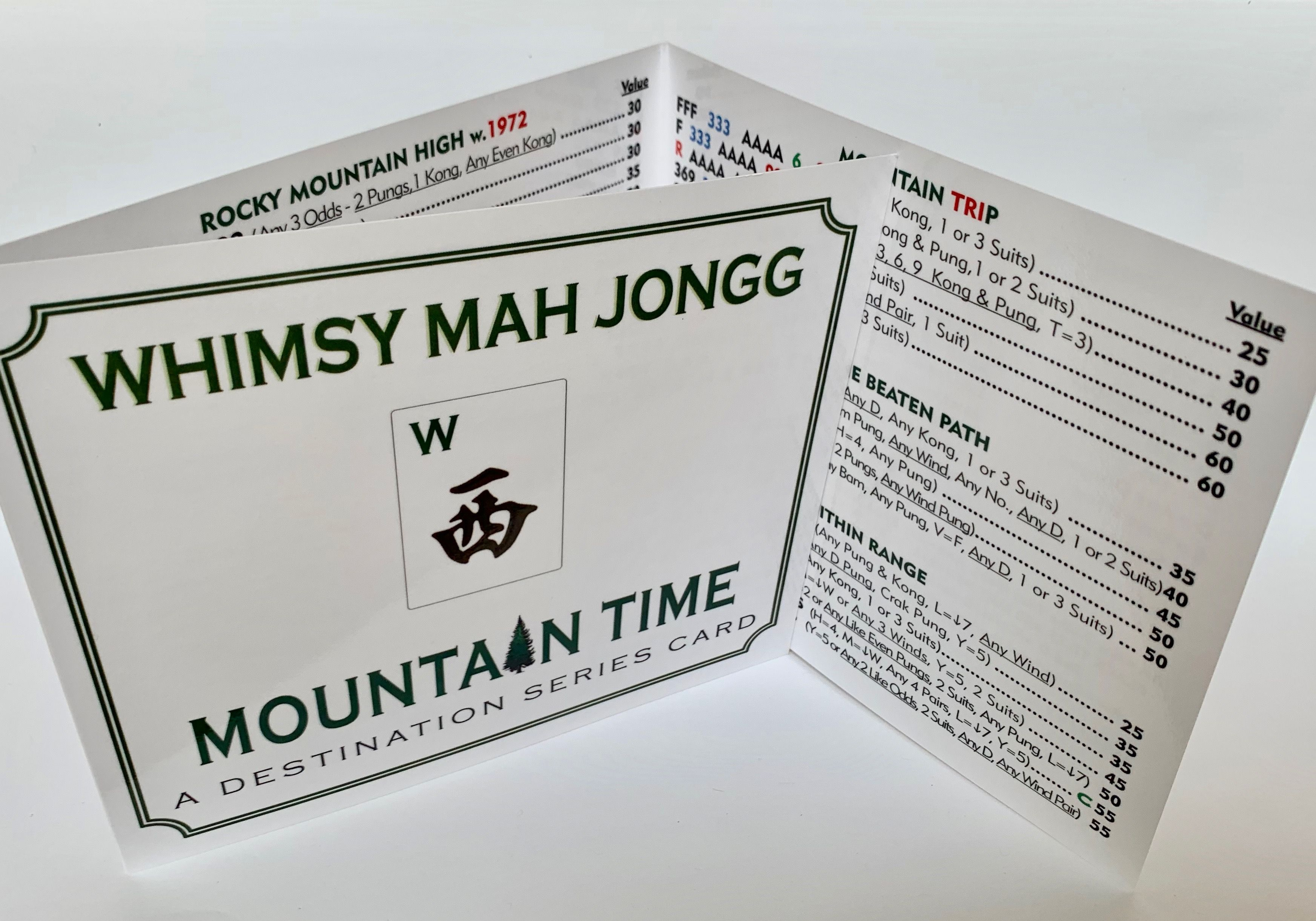 Mahjong Card Mountain Time Theme Card is in! Cards
