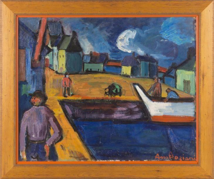 Pierre AMBROGIANI (1907-1985) Marin sur le port, 1946 Huile sur toile  Signée en bas à droite 50 x 61 cm Exposit… | Vente aux enchères, Huile sur  toile, Peinture