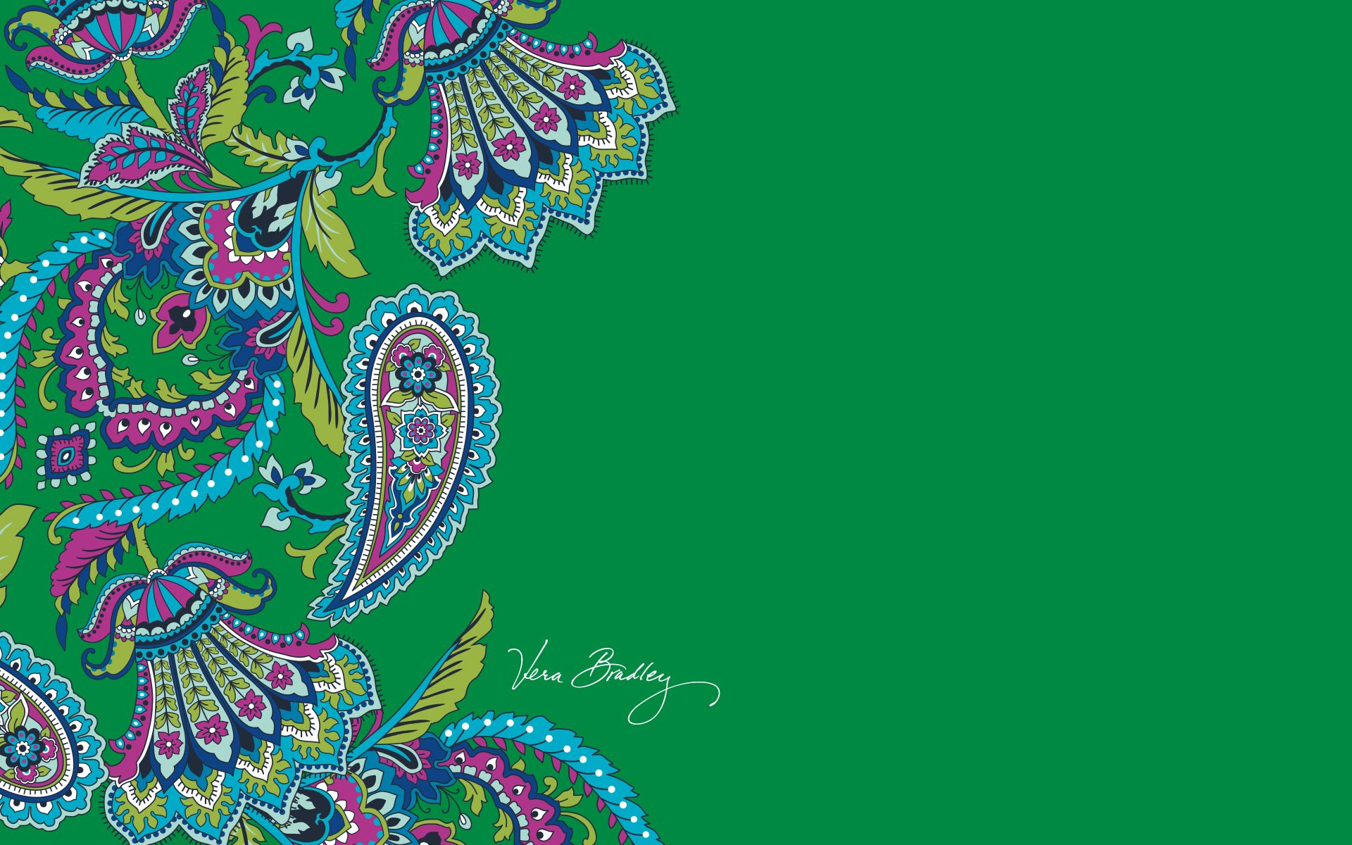 vera bradley desktop download emerald paisley
