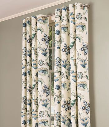 Jacobean Floral Lined Grommet Top Curtains ($260 $280)