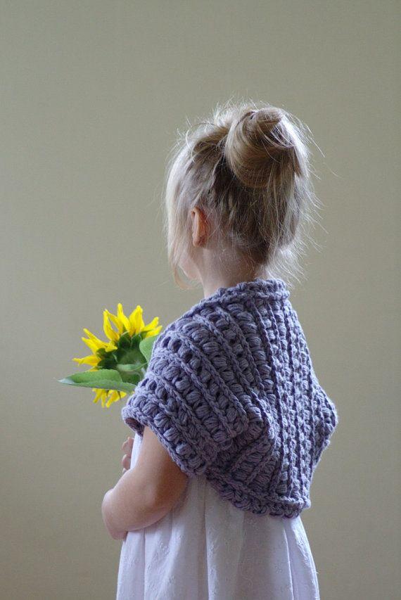 Girls Shrug Pattern Bolero Pattern Toddler Crochet Shrug Diy Gift