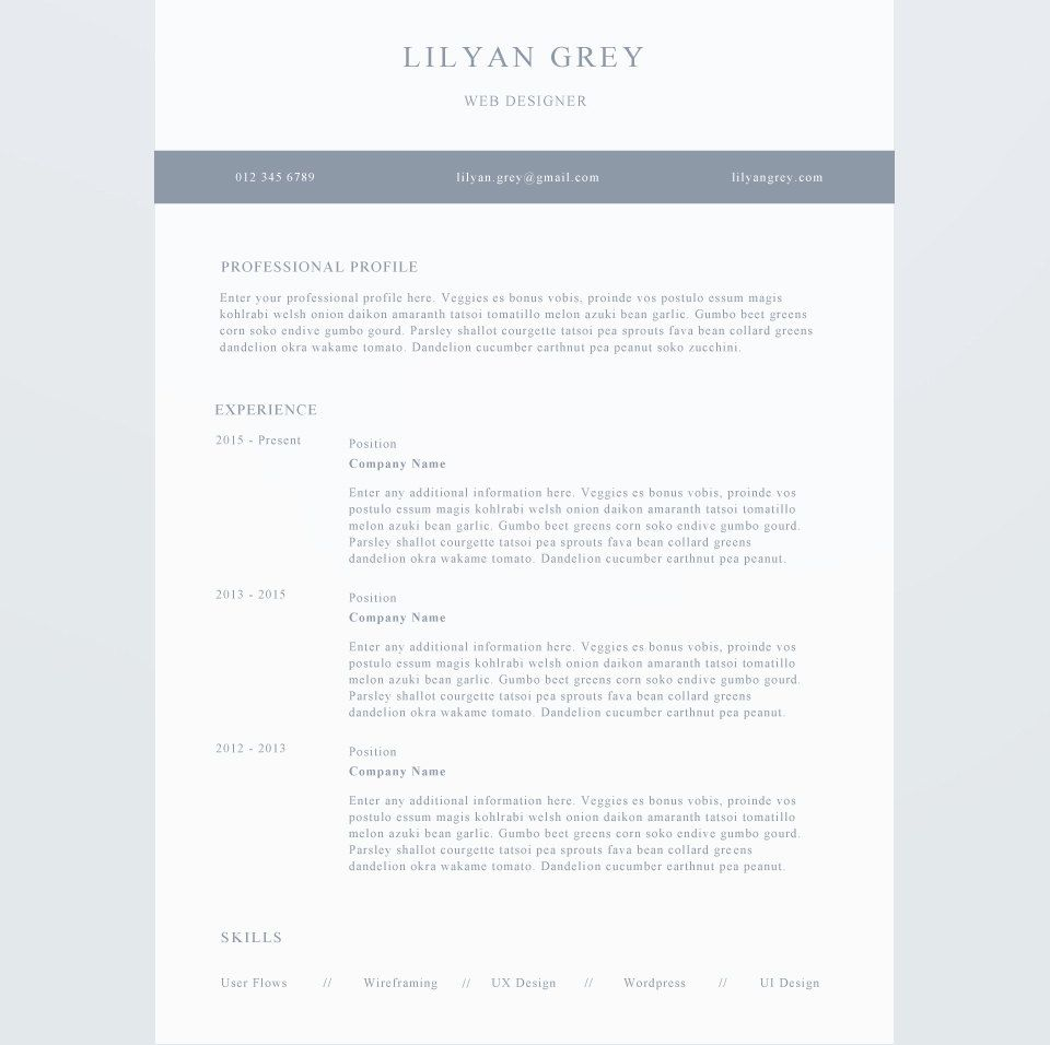 Professional Resume Template Cover Letter Cv By Ivybaydesigns