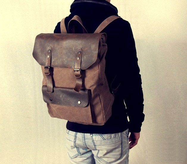 Genuine Leather Backpack Bags / Leather Briefcase / Leather ...