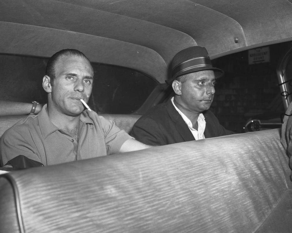 Mob boss Joe Gallo (left) with his brother Larry Gallo in this 1961 picture. Joe was killed while celebrating his birthday in 1972 to many beats will catch ...