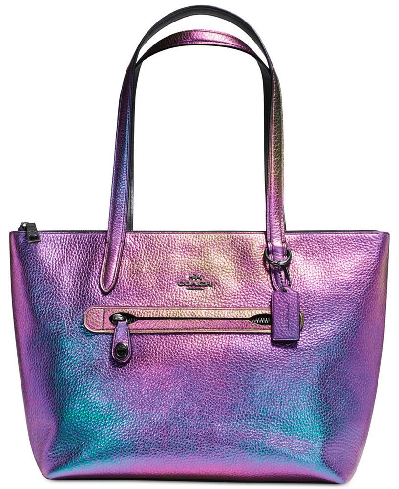 1a81fd8cf96ee NWT COACH Taylor Tote in Hologram Leather Iridescent Handbag Rainbow $350  Retail #Coach #Satchel