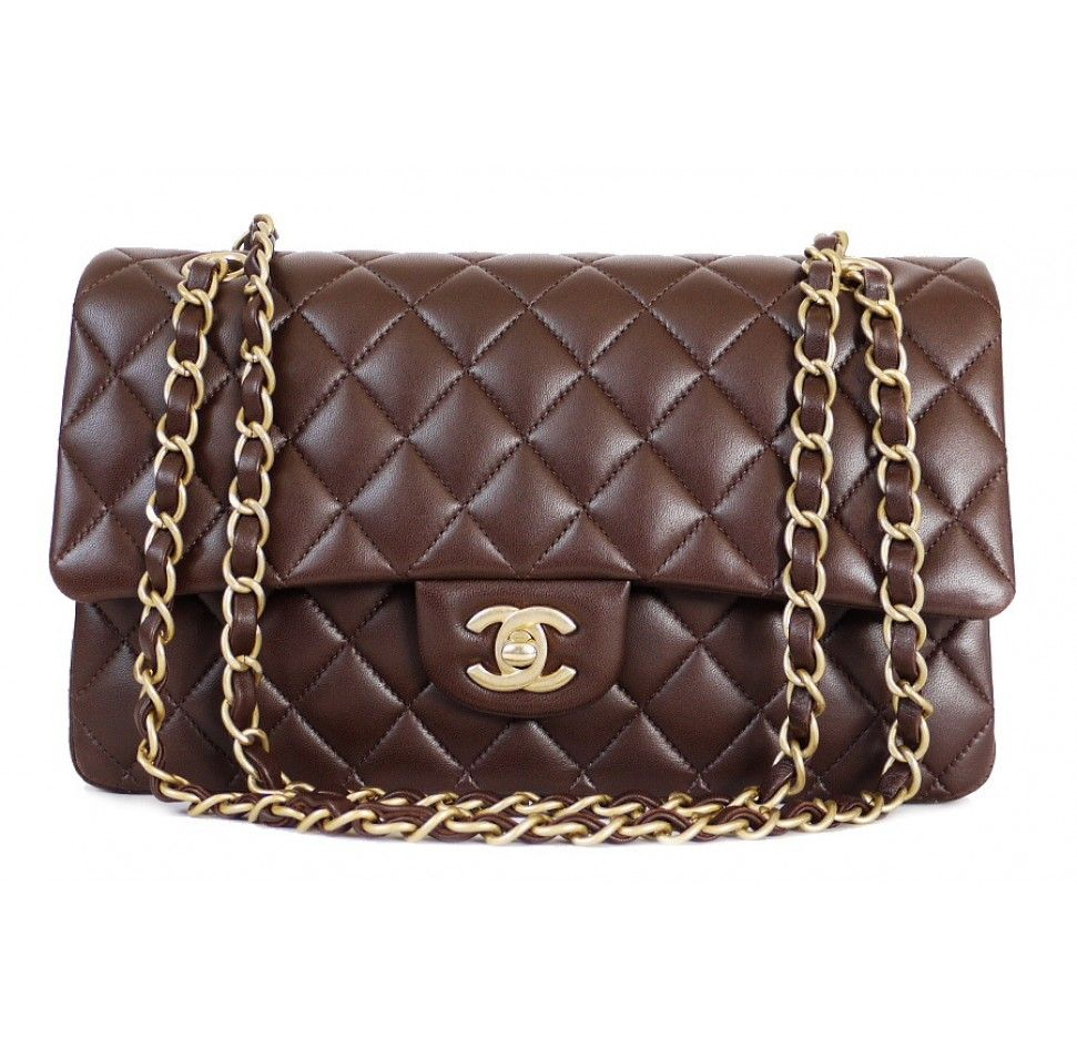 Brown (Marron Fonce) Chanel 2.55 Double Flap Classic